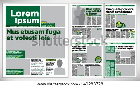 Newspaper Layout Stock Images, Royalty-Free Images & Vectors
