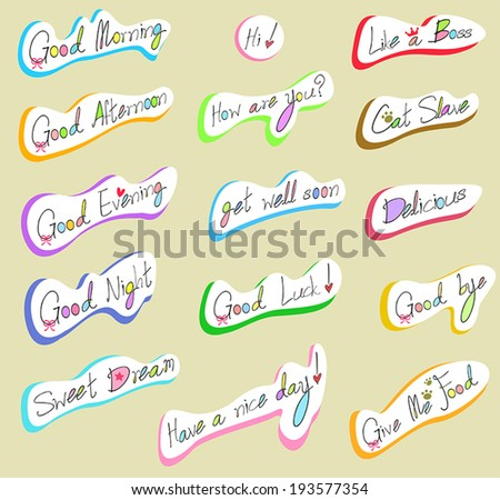 Graphical text typography and wording calligraphy font icon in handwriting illustration 2, create by vector - stock vector