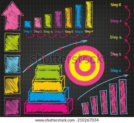 Graphs - stock vector