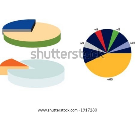 Graphs, chart - stock vector