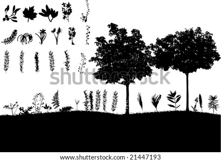 grass and trees element