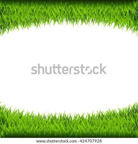 Grass Borders, Isolated on Transparent Background, Vector Illustration - stock vector