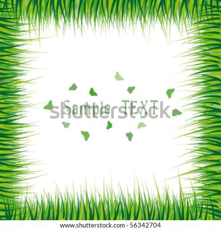 Grass frame - stock vector