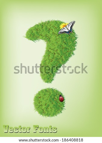 grass question sign vector - stock vector