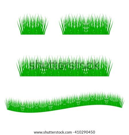 grass, shrubs.  - stock vector