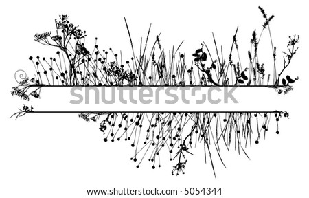 Grass silhouette frame / vector. Ideally for your use - stock vector