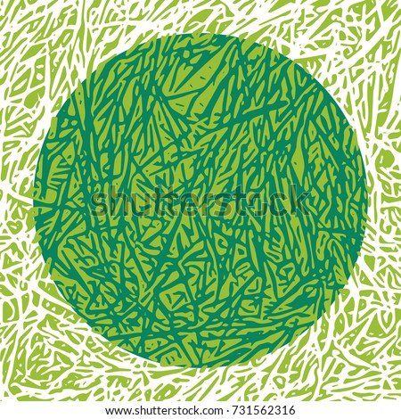 Grass vector texture for the creation of banners and abstract organic backgrounds and patterns.