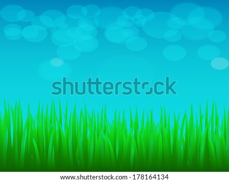 Grass with bokeh background/Grass in spring - stock vector