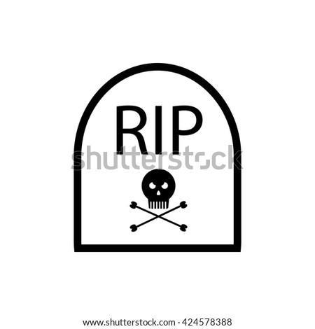grave icon - stock vector
