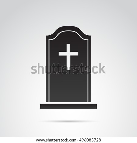 Grave icon isolated on white background. Vector art.