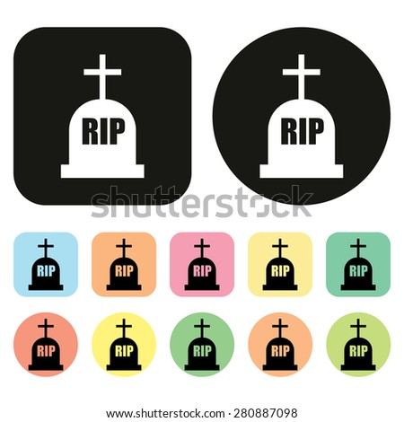 Grave icon. RIP icon - stock vector