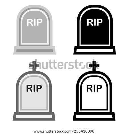 Grave stone icon - stock vector