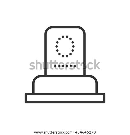 Grave thin line icon. Thin line vector illustration - stock vector
