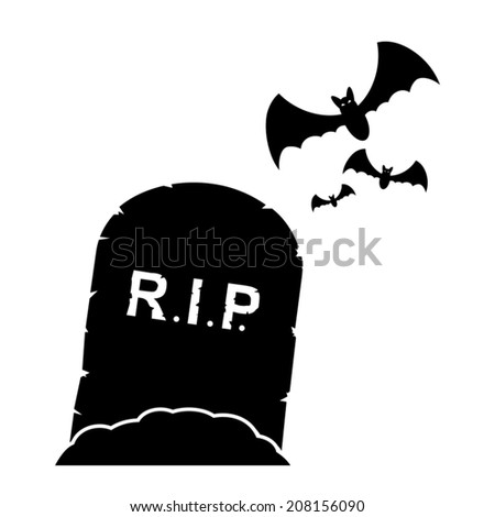 Gravestone icon - stock vector