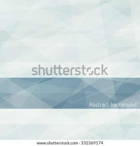Gray abstract subtle background with textured horizontal stripe. Graphic vector pattern - stock vector