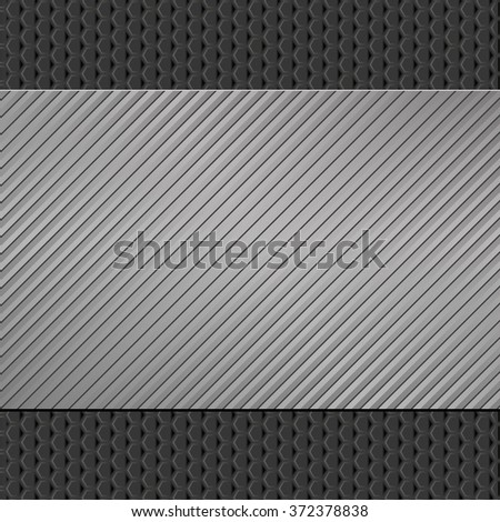 gray and black background with striped pattern - stock vector