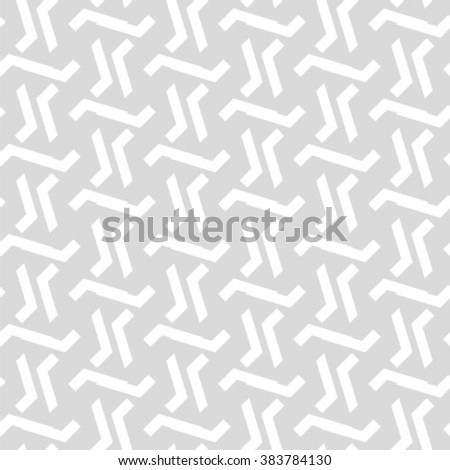 Gray and white geometric seamless pattern, abstract background, vector