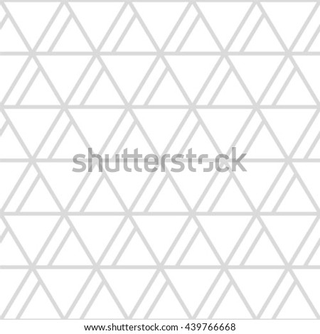 Gray and white geometric seamless pattern with triangle, abstract background, vector. - stock vector