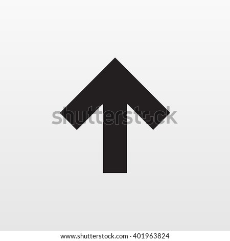 Gray Arrow up icon isolated on background. Modern simple flat upload sign. Business, internet concept. Trendy minimal vector go to top symbol, website design web button, mobile app. Logo illustration  - stock vector