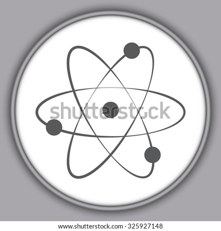 Gray atom - black vector icons