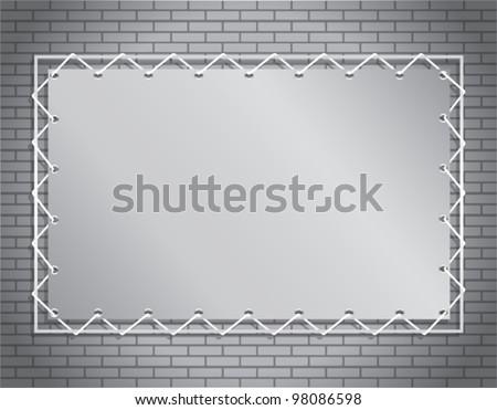 gray banner - stock vector