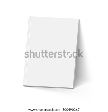 Gray Book. Illustration on White. Mockup Template