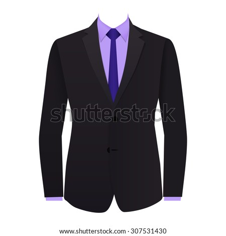 Blue business suit tie stock vector 307168991 shutterstock gray business suit with a tie ccuart Choice Image