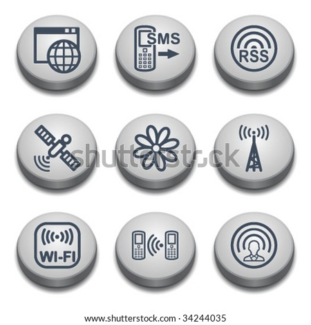 Gray button for web 30