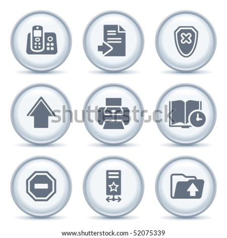 Gray button with icon 4
