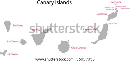 Gray Canary Islands map