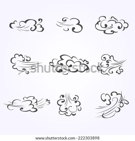 Gray Cloud - stock vector