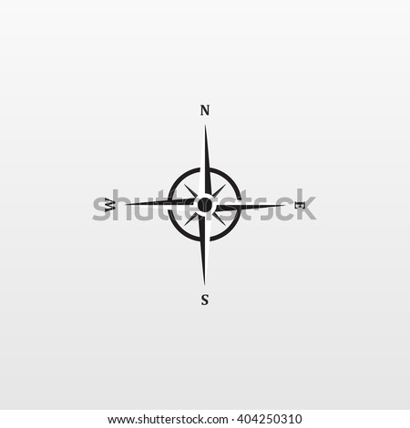 Gray Compass icon isolated on background. Modern flat pictogram, business, marketing, internet concept. Trendy Simple vector symbol for web site design or button to mobile app. Logo illustration  - stock vector