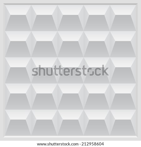Gray Concrete Fence - stock vector