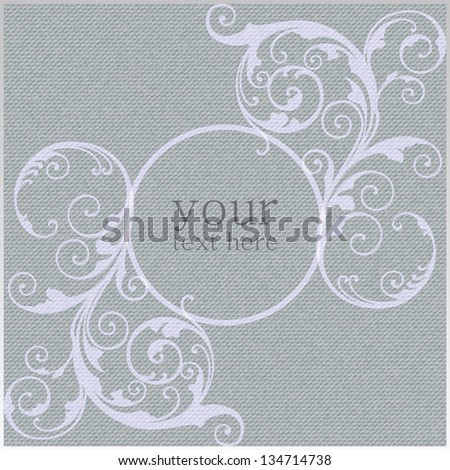Gray Fabric Texture, Background, Pattern - stock vector