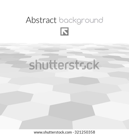 Gray hex grid background texture. Vector Illustration. - stock vector
