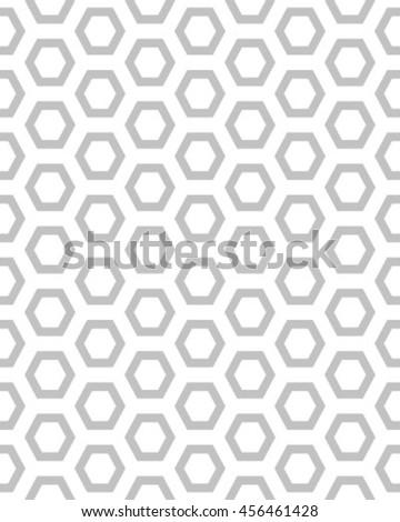 Gray honeycomb seamless pattern, vector - stock vector