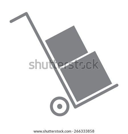 gray Icons set shipping and delivery - stock vector