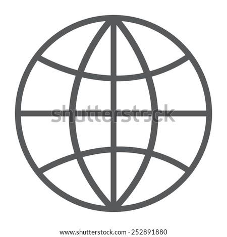 gray Internet - vector icon - stock vector