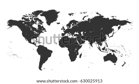 Gray isolated detailed world map on stock vector 630025913 gray isolated detailed world map on white background design world map vector template a gumiabroncs Gallery