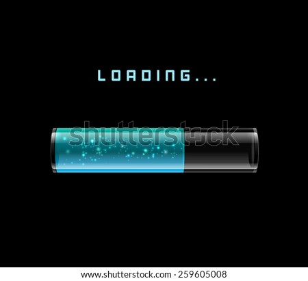 Gray Loading Bars set with shine, vector - stock vector