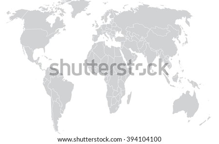 Gray map flat globe world vectores en stock 394104100 shutterstock gray map flat globe world gumiabroncs Image collections
