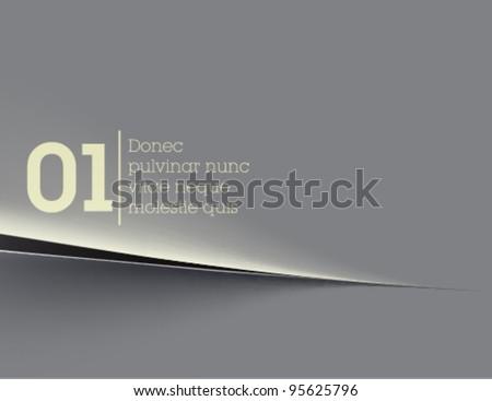 gray paper background / paper cut / vector - stock vector
