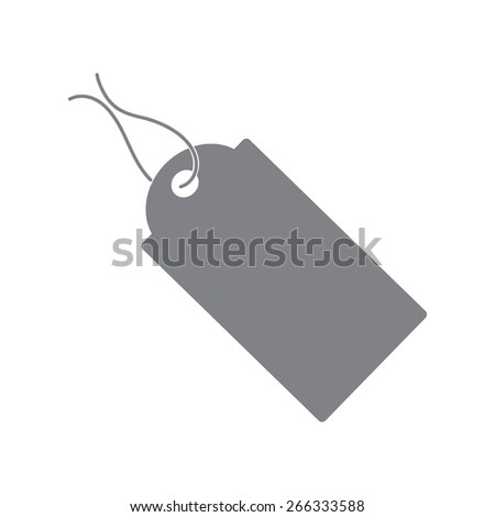 gray Pictograph of tag
