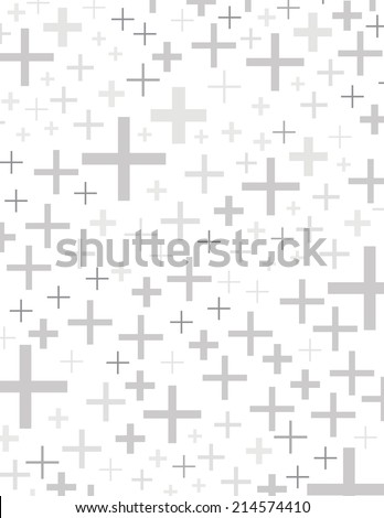 Gray plus sign symbols over white background - stock vector