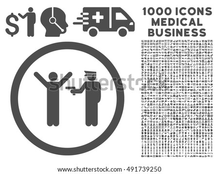 Gray Police Arrest Vector Rounded Icon Stock Vector 491739250