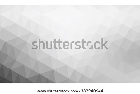 Gray polygonal illustration, which consist of triangles. Geometric background in Origami style with gradient. Triangular design for your business. - stock vector
