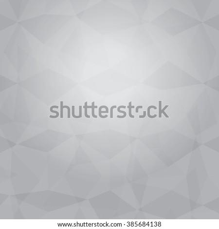 gray Polygonal Mosaic Background, Vector illustration, Creative Business Design Templates - stock vector