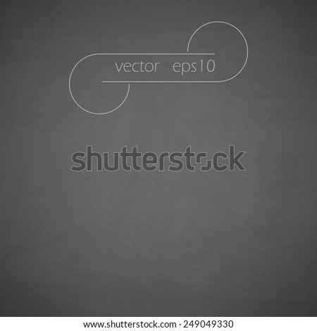 Gray school board, chalkboard texture and vector background eps10 - stock vector