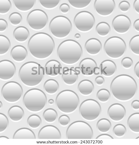 Gray seamless pattern of air bubbles. Vector illustration - stock vector