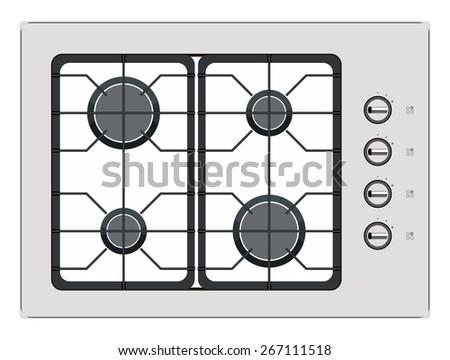 stove top burner clipart. gray shut down gas stove top burner clipart